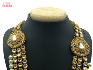 Heavily Embellished Faux Gems Necklace With Choker Set
