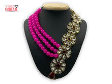 Load image into Gallery viewer, Layered Pink Floral Necklace Set