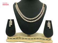 Load image into Gallery viewer, Square Cut Gems Motif Necklace Set
