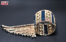 Load image into Gallery viewer, Traditional Royal Blue Beaded Gold Bracelet With Latkan