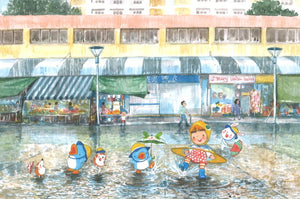 Rainy Day is Happy Day (Postcards) 8886307514707-98 | Singapore Chinese Books | Maha Yu Yi Pte Ltd