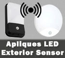 Apliques LED con detector de movimiento sensor integrado