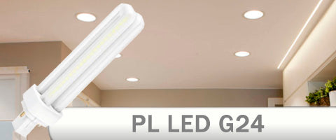 Bombilla LED PL G24 para downlights