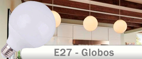 Globos opales E27 LED en 95 mm y 125 mm
