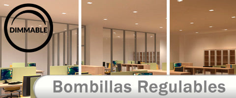Bombillas LED Regulables para interior dimmables