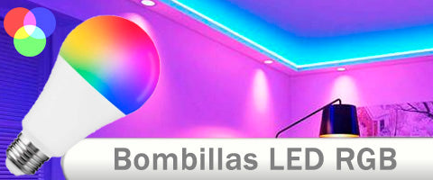 Bombillas LED RGB multicolor