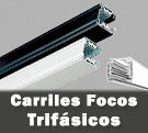 Carriles LED electrificados trifásicos 4 vías