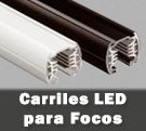 Carril led electrificados en color blanco y negro con accesorios