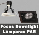 Focos empotrables downlight lámparas PAR