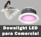 Downlight LED comercial para tiendas