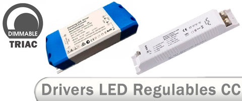 Drivers LED regulables placas downlight Triac dimmables