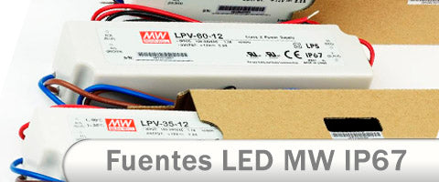 Fuentes alimentación LED meanwell LPV IP67