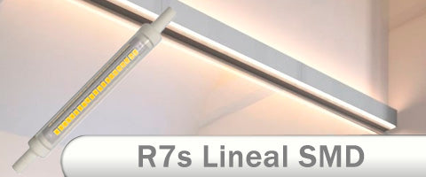 Bombilla lineal LED r7s smd 360