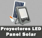 Proyectores LED con panel placa solar