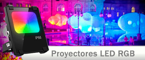 Proyectores LED RGB multicolor