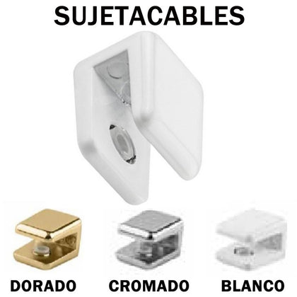 Sujetacables Techo Cable Blanco / Cromo / Oro