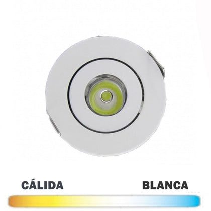 Empotrable Mini Redondo Blanco LED 3W Basculante