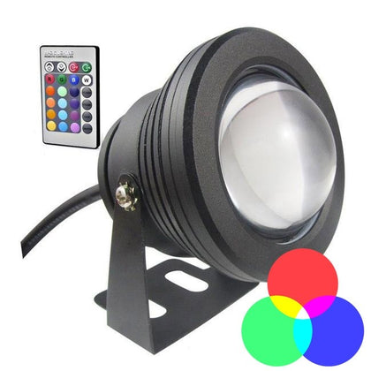 Foco Superficie Estanco 12V IP67 Negro 10W RGB