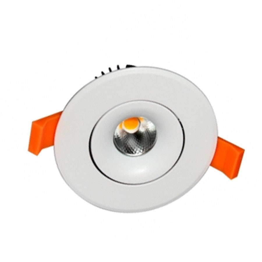 Empotrable LED COB 9W 95mm Diam Redondo Blanco