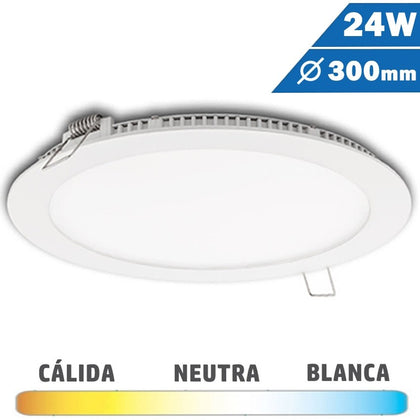 Panel LED Redondo Blanco 24 W Diámetro 300mm