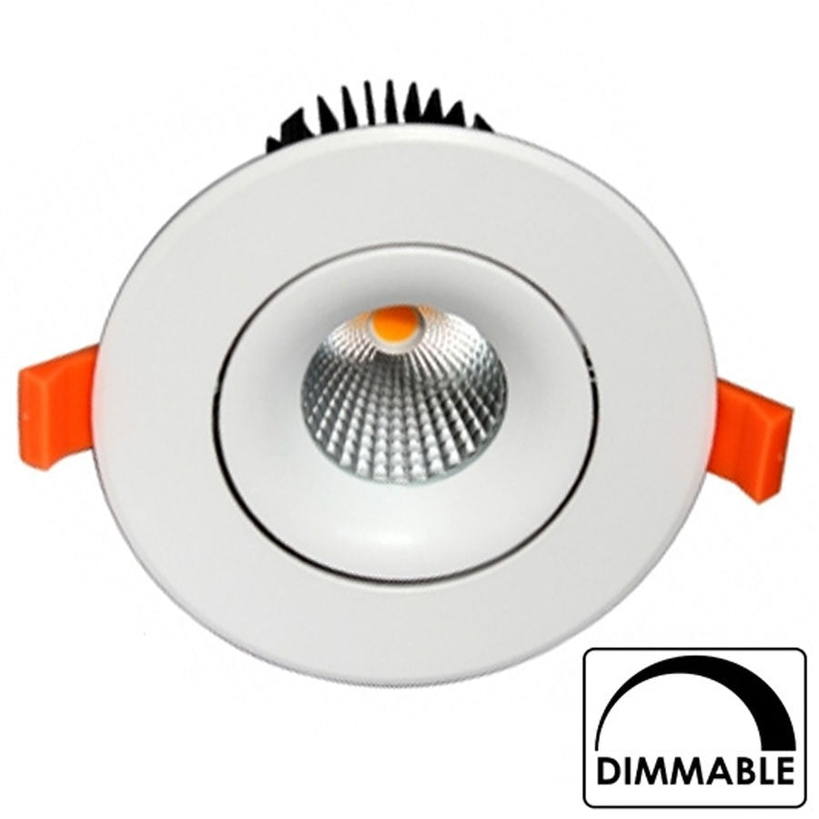 Empotrable COB 15W Regulable 119mm Diam Redondo Blanco Basculante