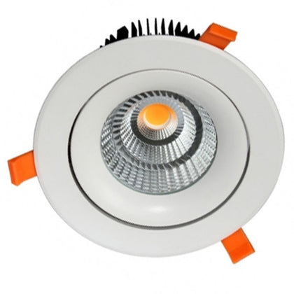 Empotrable LED COB 35W 180mm Diam Redondo Blanco