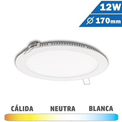 Panel LED Redondo Blanco 12W Diámetro 170mm