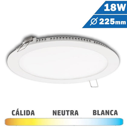 Panel LED Redondo Blanco 18W Diámetro 225mm
