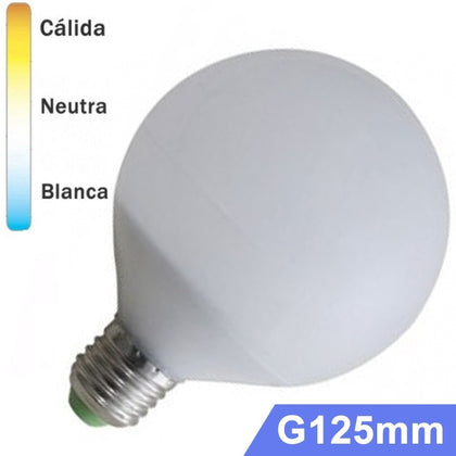 Bombilla LED Globo E27 15W G125mm