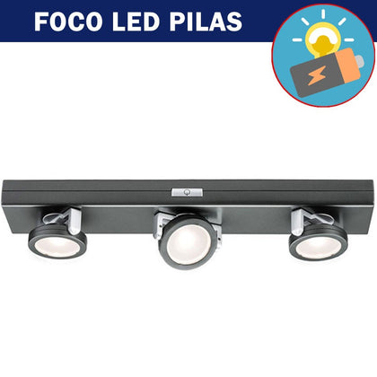 Foco LED a Pilas 3 x 0,2W Antracita