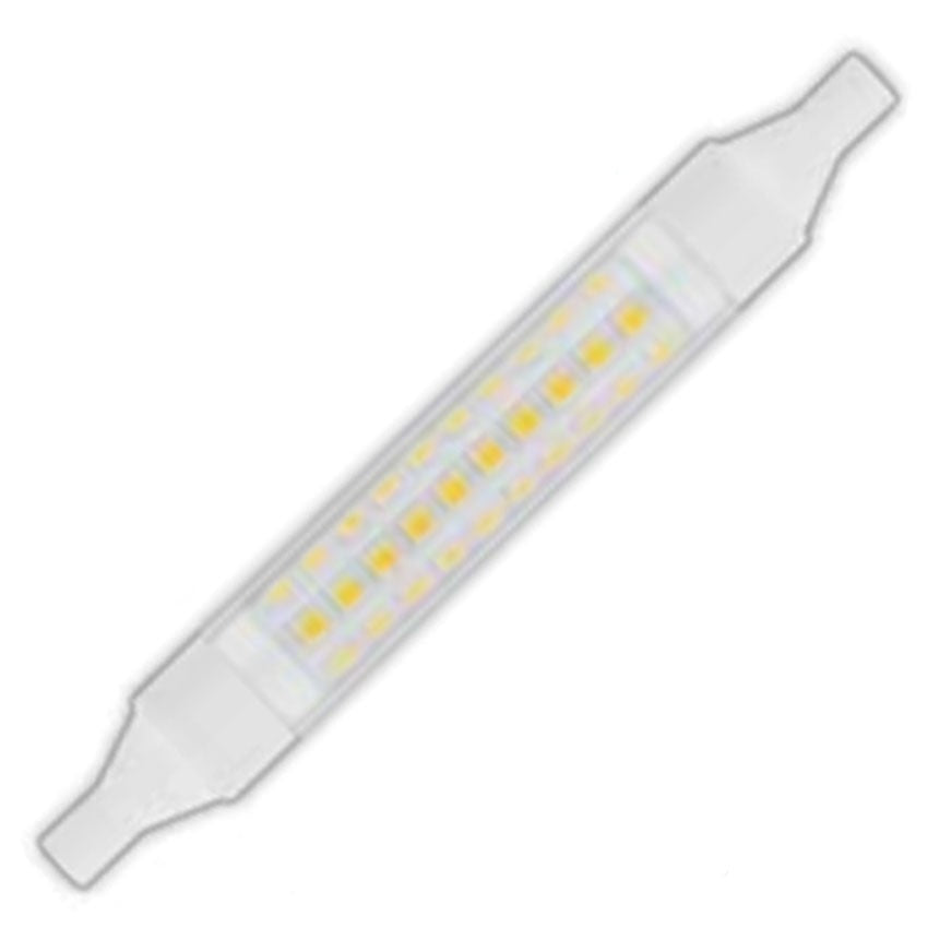 Bombilla LED R7s Slim Estrecha 118mm 8W