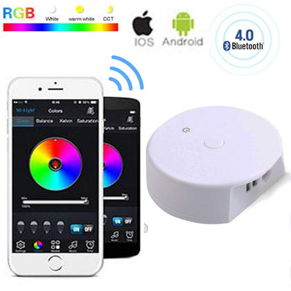 Controlador Tira LED Bluetooth Móvil RGB / RGB+W