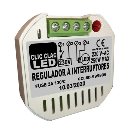 Regulador CLIC CLAC LED por Interruptor Regulables