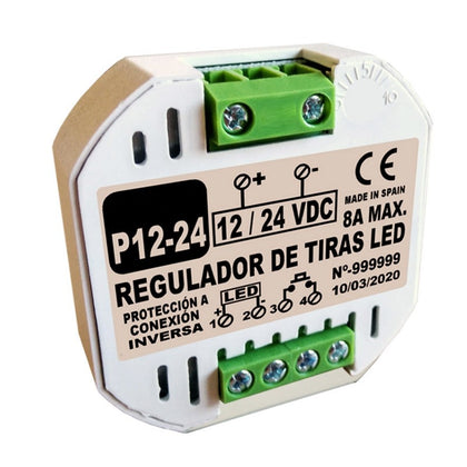 Regulador Tiras LED 12 / 24V por Pulsadores