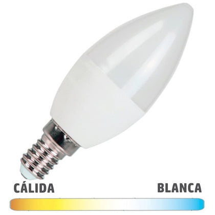 Bombilla LED E14 Vela 6W Serie Economic