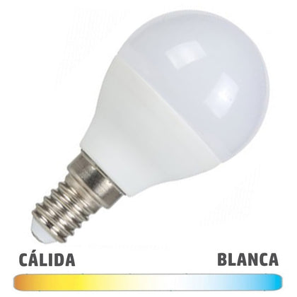 Bombilla LED E14 Esférica 7W Serie Economic
