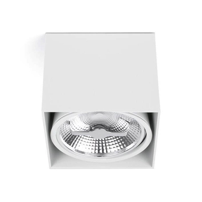 Foco Base Superficie QR111 Blanco 1 Luz