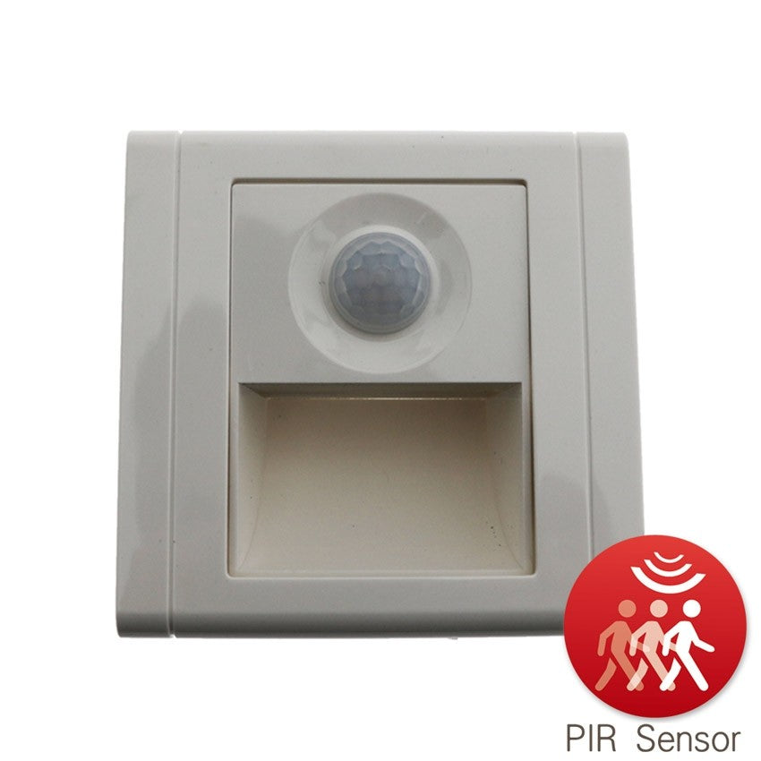 Empotrable Pared Blanco 1,2W con Sensor PIR