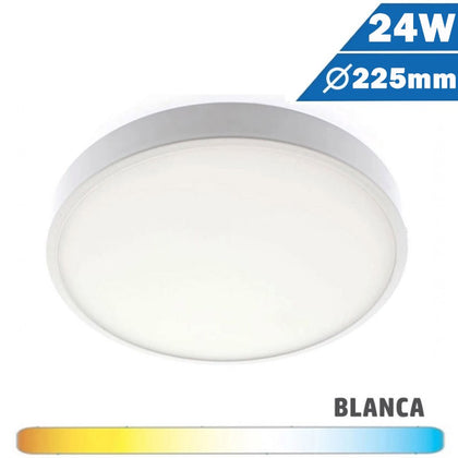 Plafón Superficie LED 24W 225mm Mini Cerco Redondo