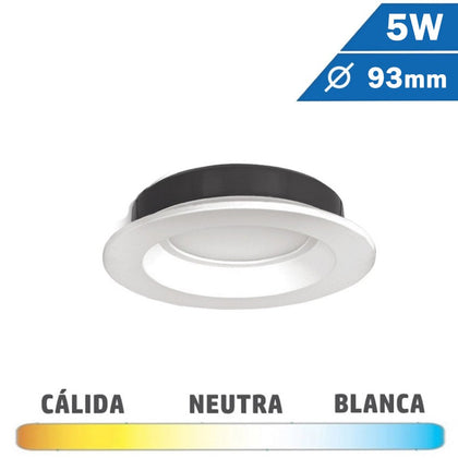 Downlight LED 5W Blanco 93mm Redondo