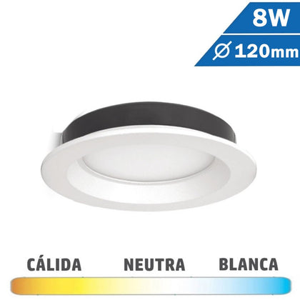Downlight LED 8W Blanco 120mm Redondo
