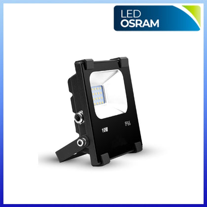 Proyector LED 10W CHIP Osram Negro