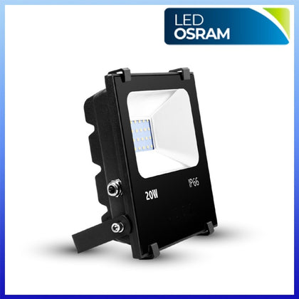 Proyector LED 20W CHIP Osram Negro