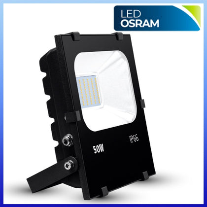 Proyector LED 50W CHIP Osram Negro