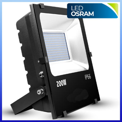 Proyector LED 200W CHIP Osram Negro