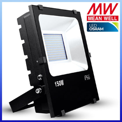 Proyector LED 150W Chip Osram Negro Meanwell