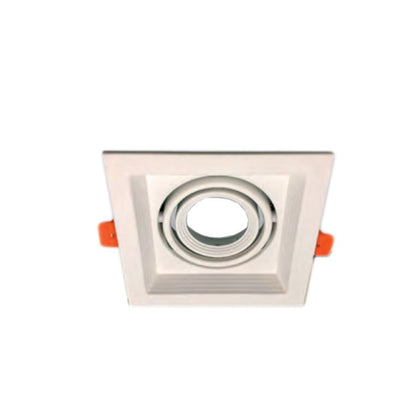 Cardan Empotrable Blanco 1 Luz GU10 130x130mm