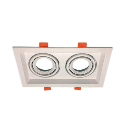 Cardan Empotrable Blanco 2 Luces GU10 225x130mm