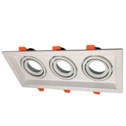 Cardan Empotrable Blanco 3 Luces GU10 320x130mm