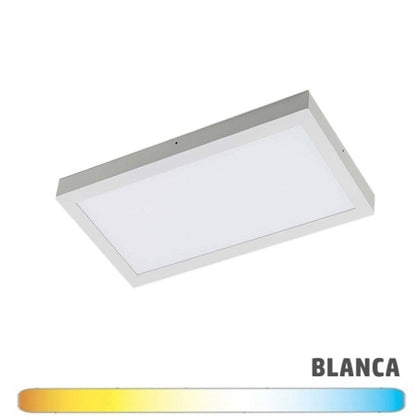 Luminaria Blanca Superficie LED 30x60 24W